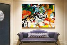 Art Scene Inside 3 / interior art ,wall art, in the context of interior design and color schemes / by D C