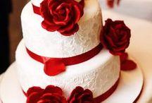 ♥ Esküvő színei: piros és bordó ♥ Wedding Colors: Red ♥