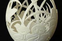 Egg Carving Art / umělecké zpracování vajíček