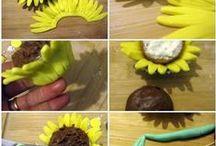 How to make Fondant/Gum Paste Flowers - Květy z fondánu / jak udělat květ z potahové hmoty