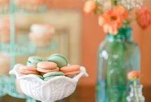 ♥ Esküvő színei: menta és barack ♥ Wedding Colors: Mint & Peach ♥