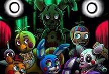 Five Nights At Freddy's / I'ts about cute, funny animatronic animals, that'll kill you at night!  How wonderful isn't that? Anyways, all this cute fanart i find all over the place, makes me think they have a whole own world (^ω^)
