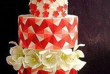 Red and White ...  Cakes  -  Dorty červené, bordó / dorty zdobené do červena nebo bordó, nebo celočervené
