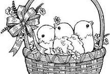 Easter Coloring Pages - Velikonoční omalovánky