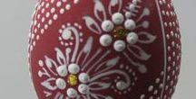 Easter Egg / Wax Embossed - Kraslice voskované/malované / kraslice zdobené voskem
