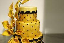 Yellow/Lemon Cakes / Dorty zdobené žlutou