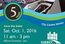 City Centre Library Turns 5! / Join us for the anniversary celebration on Saturday, October 1st from 11-3 There will be special guests, crafts and activities for all ages. #ccturns5