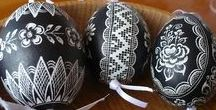 Scratched Easter Eggs/Vyškrabovaná velikonoční vajíčka