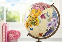 world globes, maps