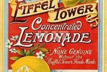 labels, vintage arts