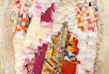 tissus fibres papiers collages