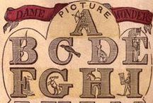'F' is for (Vintage) Fonts / Beautiful vintage fonts for use in murder mystery parties