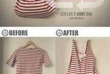Oblečení a módní doplňky / Recyklace- ze starého nové. Rychle a jednoduše.Vyrobte si originální hadříky a doplňky :)