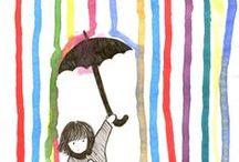 Výtvarka - malby a kresby / Výtvarné techniky -Inspirace i návody pro děti, do škol i školek :)
