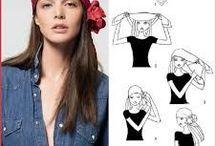 Jak uvázat šátek / Šátek je skvělý módní doplněk.Uvažte si ho originálně :) Inspirujte se.