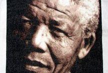 Work In Progress... Nelson Mandela... / Mis creaciones nacen principalmente del respeto que le tengo a las personas que represento... No fue facil encontrar una foto de Mandela que no es la clasica foto pero, al final, la gran fotografa Annie Leibovitz me dio lo que tanto estaba buscando... Es gracias a ella si hoy, puedo crear el hermoso rosto de un hombre que admiro y respeto... Madiba...