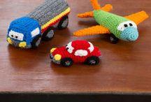 hæklet biler og fly