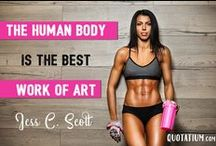 Fitness motivation / Motivational fitness #quotes for your workout at the gym or exercise routine