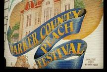 Parker County Peach Festival  / Plastic Surgery Texas and our second office Weatherford Plastic Surgery Center and Medical Spa are proud to be a part of this grand Weatherford tradition.  This board is to celebrate everything Parker County!