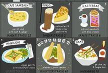 ♡ Infographics {foodrelated} / Funny illustrated info about food.