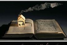 Book Sculpture / Sculpting/cutting books to create amazing works of art.