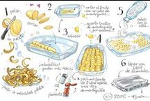 ♡ Illustrated recipes / Food drawings and illustrations