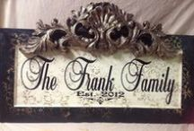 Personalized Framed Plaques / Choose your plaque color and personalize online www.signsfordesign.com