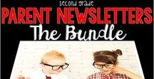 Parent Reading Newsletters / Everything you need to send home information about what you are covering in your reading lesson: spelling words, phonics tips, vocabulary words and definitions, focus skill, and grammar tips. Run your copies double-sided and your parents are set!