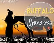 Buffalo Before Breakfast: Magic Tree House / Read the Room and NO PREP (ELA) for the Magic Tree House novel, Buffalo Before Breakfast. These resources focus on comprehension, vocabulary, phonics, grammar, and spelling skills for grades 1-3. Magic Tree House, Products, Book