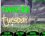 Twister on Tuesday: Magic Tree House / Read the Room and NO PREP (ELA) for the Magic Tree House novel, Twister on Tuesday. These resources focus on comprehension, vocabulary, phonics, grammar, and spelling skills for grades 1-3. Magic Tree House, Book, Product