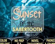 Sunset of the Sabertooth: Magic Tree House / NO PREP (ELA) for the Magic Tree House novel, Sunset of the Sabertooth. These resources focus on comprehension, vocabulary, phonics, grammar, and spelling skills for grades 1-3. Magic Tree House, Book, Product