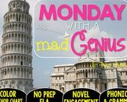 Monday with a Mad Genius: Magic Tree House / NO PREP (ELA) for the Magic Tree House novel, Monday with a Mad Genius. These resources focus on comprehension, vocabulary, phonics, grammar, and spelling skills for grades 1-3. Magic Tree House, Book, Product