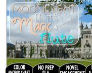 Moonlight on the Magic Flute: Magic Tree House / NO PREP (ELA) for the Magic Tree House novel, Moonlight on the Magic Flute. These resources focus on comprehension, vocabulary, phonics, grammar, and spelling skills for grades 1-3. Magic Tree House, Book, Product