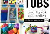 Morning Tubs K-2 / Creative ideas to engage students first thing in the morning. Hands on, primary