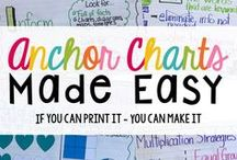 Anchor Charts / Anchor charts for ALL subjects for inspiration and creativity and productivity in your OWN classroom!