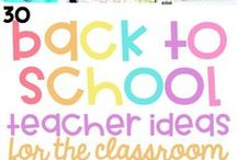 Back to School / Back to school ideas for inspiration, classroom set up, behavior management, resources, and activities for the primary grades.