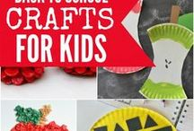 Back to School Crafts / Need some creative ideas for back to school crafts? Check out all of these adorable ideas for hallway displays and writing projects!