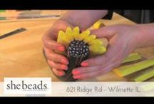 She Beads: Who we are / Handmade clay beads from a process called millefiori.