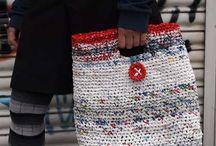 Plarn - plastic bag yarn / by Marlene McKinney