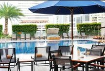 Swimming Pool / Unwind and relax at our large outdoor swimming pool with beautiful views and a full range of food and beverage. / by Rembrandt Hotel Bangkok