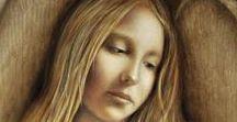 ☼ Toile Ange ☼ / Toile d'anges qui évauquent la communication entre anges et humains. Comment communiquer avec son ange gardien?  ☼ www.angesgardiens.net ☼ #AngesGardiens #ToileAnge