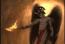 ☼ Ange déchu - Samael ☼ / Concours ayant pour thématique l'Archange Samael, un archange déchu ☼ www.angesgardiens.net ☼ #AngesGardiens #Ange_dechu