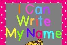 Write My Name :-) / Fun ways for children to master writing their names :-)