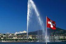 Geneva, Switzerland / Gorgeous Geneva, located on Lake Geneva surrounded by the spectacular Alps and the Jura.