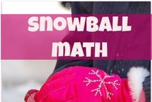 Math tips for snow filled days! / Nothing like a little math to keep your kids' heads warm on a cold winter day!