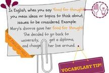 VOCABULARY TIPS / Are you learning English? Follow our VOCABULARY TIPS board and extend your vocabulary range! Find us also on Facebook: www.facebook.com/theenglishhall