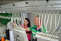 Training day with Tajima's specialist / #Embroidery is one of the most common techniques in decorating. It is as famous of a method as #screenprinting or #digitalprinting.  Jan Meirlaen from #TajimaEurope, set down with #sPrintTextileDecorations' DTP team to answer some questions.  http://bit.ly/1e2V3BG