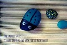 The Fairies Series / How to make a fairyhouse,a deck ,a ladybug and small decorations for a fairy garden by the window,