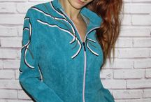 """Women's velvet jacket with hand embroidery