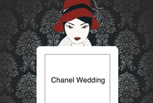 Chanel inspired 'Couture Bride' / Photos of table & chairs for wedding fayre display table.